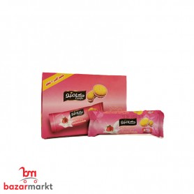 Wafer filled with Straw berry Cream 12 Pieces